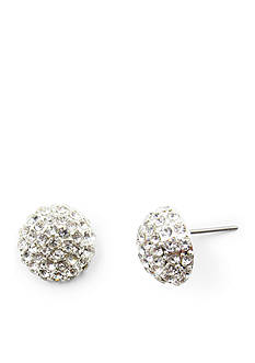 Kim Rogers® Silver-Tone Crystal Button Earrings