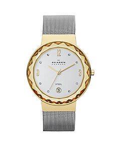 Skagen Women's Two-Tone Mesh Watch