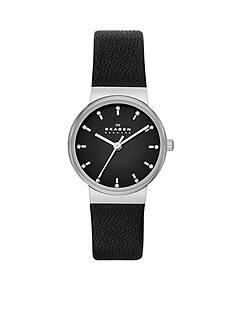 Skagen Women's Ancher Black Leather Watch