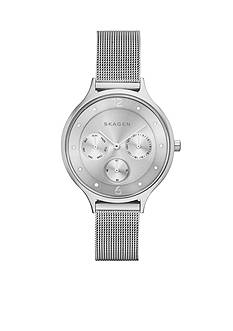 Skagen Anita Multifunction Silver-Tone Mesh Watch