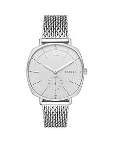 Skagen Ladies Rungsted Silver Mesh Three Hand Watch