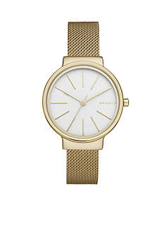 Skagen Women's Ancher Gold-Tone Stainless Steel Mesh Watch