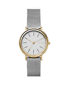 Skagen Women's Hald Three- Hand Steel Mesh Watch