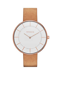 Skagen Gitte Leather Watch
