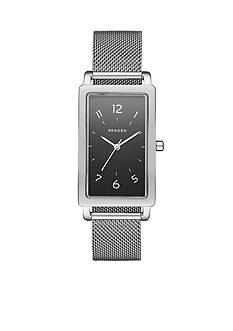 Skagen Women's Hagen Rectangular Steel-Mesh Watch