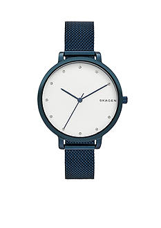 Skagen Women's Hagen Blue Steel-Mesh Watch