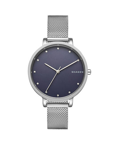 Skagen Women's Hagen Silver Steel-Mesh Watch