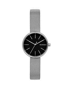 Skagen Women's Silver-Tone Signature Steel-Mesh Watch