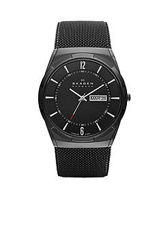 Skagen Men's Black Mesh Titanium Watch