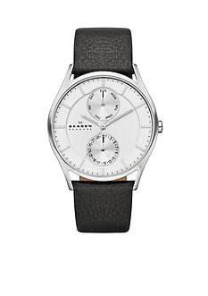 Skagen Men's Black Leather Watch