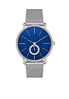 Skagen Men's Hagen Silver-Tone Mesh Three Hand Watch