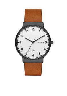 Skagen Men's Ancher Light Brown Leather Watch