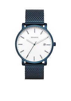 Skagen Men's Hagen Blue IP Steel-Mesh Watch