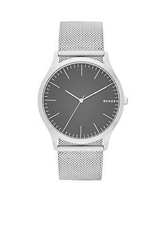 Skagen Men's Jorn Silver Steel-Mesh Watch
