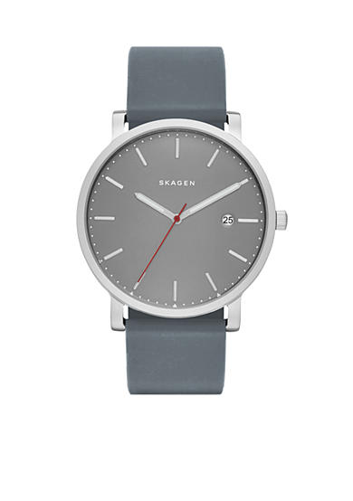 Skagen Men's Hagen with Gray Silicone Strap Watch