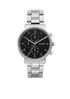 Skagen Ancher Steel-Link Chronograph Watch