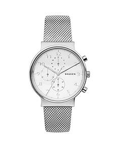 Skagen Ancher Steel-Mesh Chronograph Watch