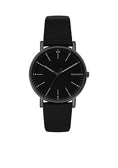 Skagen Men's Hematite-Tone Signature Nylon Watch