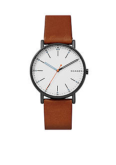 Skagen Signature Leather Watch