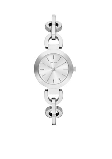 DKNY Women's Silver-Tone Stainless Steel Three-Hand Watch