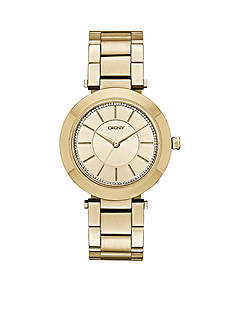 DKNY Stanhope Gold-Tone Stainless Steel Three Hand Watch