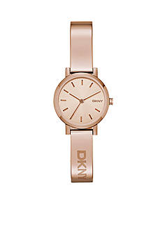 DKNY Soho Rose Gold-Tone Stainless Steel Three-Hand Watch - Online Only