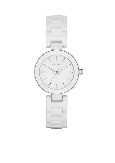 DKNY White Stainless Steel Stanhope Three-Hand Watch