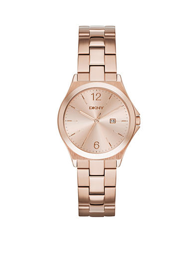 DKNY Parsons Rose Gold-Tone Stainless Steel 3-hand Watch