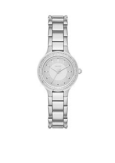 DKNY Chambers Stainless Steel Three-Hand Glitz Watch