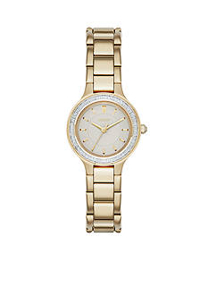 DKNY Women's Chambers Gold-Tone Stainless Steel 3-Hand Watch