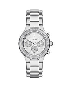 DKNY Chambers stainless steel multi-function watch