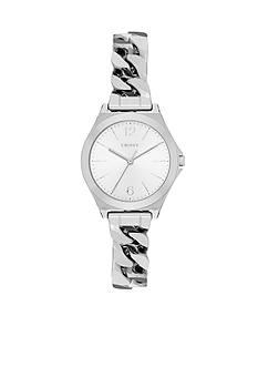DKNY Women's Silver-Tone Parsons Watch