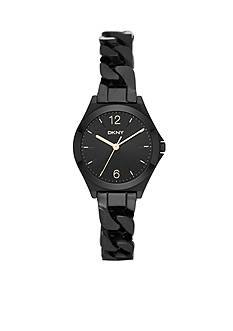 DKNY Women's Parsons Black Stainless Steel Three-Hand Watch