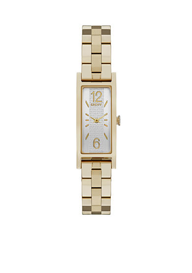 DKNY Women's Gold-Tone Pelham Two-Hand Stainless Steel Watch