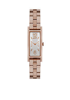 DKNY Women's Rose Gold-Tone Pelham Two-Hand Stainless Steel Watch