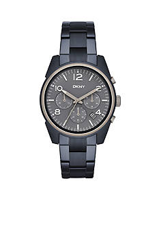 DKNY Women's Crosby Chronograph Blue Stainless Steel Watch