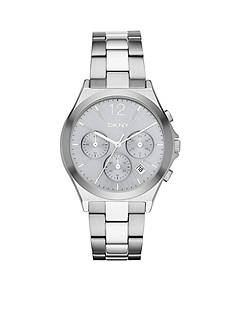 DKNY Women's Silver-Tone Parsons IP Chronograph Watch