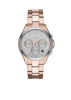 DKNY Women's Rose Gold-Tone Parsons Chronograph Watch