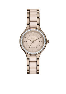 DKNY Women's Gold-Tone Chambers Stainless Steel Three-Hand Watch