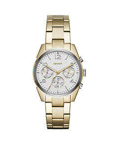 DKNY Women's Gold-Tone Crosby Stainless Steel Chronograph Watch