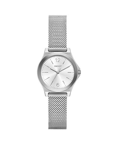 DKNY Women's Silver-Tone Parsons Stainless Steel Three-Hand Watch
