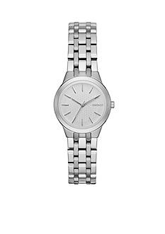DKNY Women's Silver-Tone Park Slope Stainless Steel Three-Hand Watch