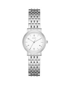 DKNY Women's Minetta Silver-Tone Three-Hand Watch