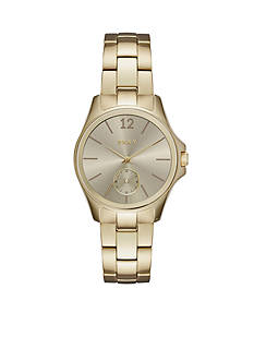 DKNY Women's Eldridge Gold-Tone Three-Hand Watch