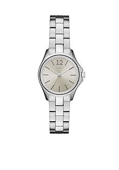 DKNY Women's Eldridge Silver-ToneThree-Hand Watch