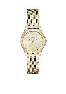 DKNY Women's Parsons Gold-Tone Three-Hand Watch