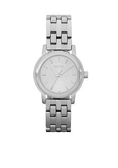 DKNY Silver-Tone Sunray Dial Park Avenue Watch