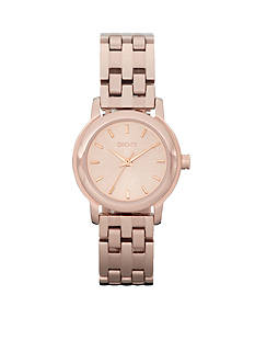 DKNY Rose Gold-Tone Sunray Dial Park Avenue Watch