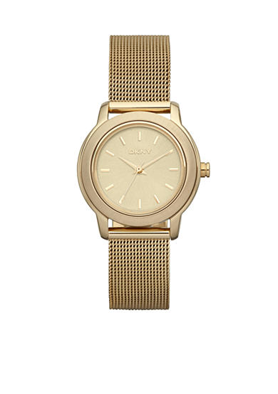 DKNY Ladies' Gold-Tone Stainless Steel Mesh Bracelet Park Avenue Watch
