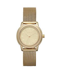 DKNY Ladies' Gold-Tone Stainless Steel Mesh Bracelet Park Avenue Watch